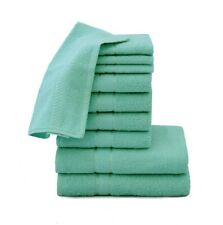 100% EGYPTIAN COTTON TOWEL BALE SET 10 PC BLUE FACE HAND BATH BATHROOM TOWELS