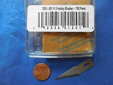 #2 No2 HOBBY BLADE 100 BULK PACK TECHNI-EDGE X-ACTO FIT for #2 HD handle