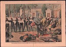 Révolution à Haiti notables Pierre Nord Alexis Port-au-Prince 1908 ILLUSTRATION