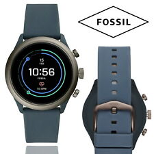 Fossil Blue Smoke Sport Smart Watch iOS Android GPS Fitness Tracker Heart Rate