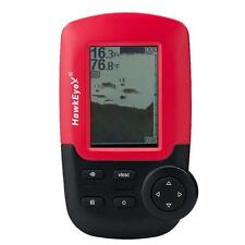 Hawkeye Fishtrax Dot Matrix Portable Fish Finder - Glare-Free Icon Lcd