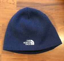North Face Winter Hat Beanie Unisex Blue Thermal