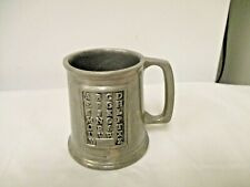 Vintage Wilton USA Pewter Alphabet Handled Mug , Cup or Stein