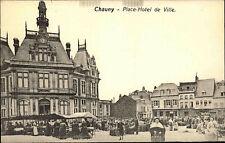 Chauny France France ~ 1914/1918 place hôtel de ville jour de marché jour de marché