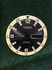 Vintage NOS Cordura Sea-Gull Divers Watch Dial Blue With Inside Bezel