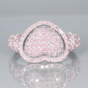 1.2Ct Natural Pink Diamond 10K White Gold Ring Color Enhanced RPG135-10-7-2