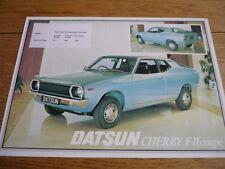 DATSUN CHERRY F II COUPE SALES BROCHURE 1977 jm