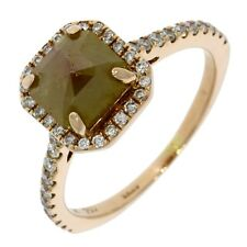 2.25ct Unique Pyramid Style Natural Opaque Diamond Engagement Ring 18k Rose Gold