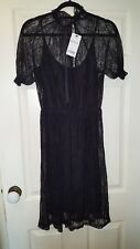 NEXT PETITE size 12 black lace occasion dress