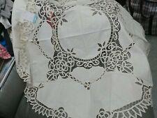 beige colour Battenburg Lace Tablecloth 54inch
