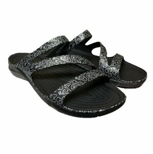 Disney Crocs Women's Sandals Mickey and Minnie Icons Black and White Swiftwater