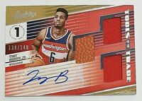 2018-19 Absolute Tott Level 1 Troy Brown Jr Rc Auto #138/149 2x Jersey & Ball