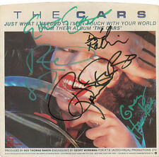 The Cars  all 5 members signed autographed Ric Ocasek single