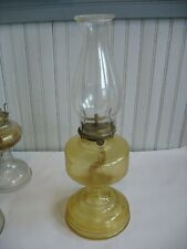 Vintage Hurricane Oil Lamp P & A Risdon Eagle Glass Pedestal Complete Lt yellow
