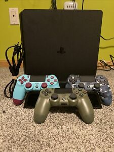 Sony PlayStation 4 Slim 1TB Console Bundle With 3 DualShock Controllers