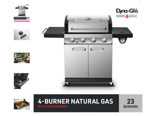 Dyna-Glo DGP483SSN-D Premier 4 Burner Stainless Steel Natural Gas Grill Outdoor