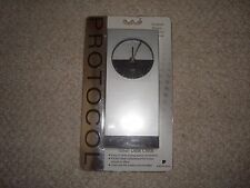 Protocol tower desk clock Brand New Grey black