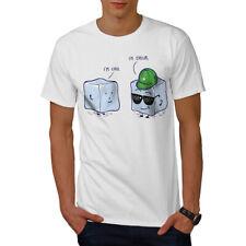 Wellcoda Cool Ice Cube Mens T-shirt, Chill Shape Graphic Design Printed Tee