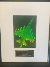 1990 F-16 Fighter 3-D Framed Matted Hologram for CEO Northwest Territorial Mint