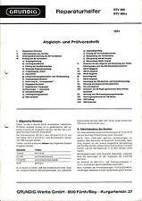 Service Manual-Anleitung für Grundig RTV 900