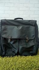 Vintage Heavy Duty Leather Suit Carrier Travel Bag
