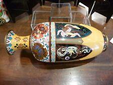 Large Japanese cloisonne vase Meiji  H : 37 cm.