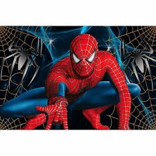 8x6ft Vinyl Cartoon Spiderman Party Photography Banner Backdrop Background