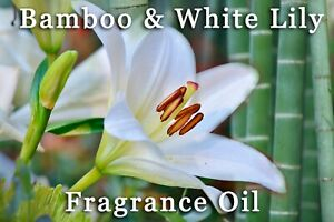 BAMBOO AND WHITE LILY PROFESSIONAL GRADE FRAGRANCE OIL, 100ml  - CANDLES, MELTS.