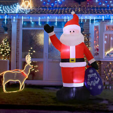 More details for giant led christmas santa inflatable snowman airblown yard blow up outdoor decor