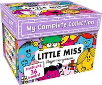 Little Miss My Complete Collection 36 Books Box Set Roger Hargreaves Bossy, Neat