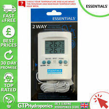 Essentials 2 Way Thermometer - Min / Max - Grow Room - GTP Hydroponics