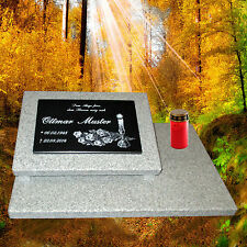 Grabstein Grabplatte Grabmal Gedenkstein Grabschmuck 60x40 cm Granit incl Gravur