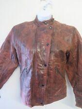 Vintage Belstaff Leather Cafe Racer Motorcycle Biker Jacket S UK 8 Euro 36 Brown