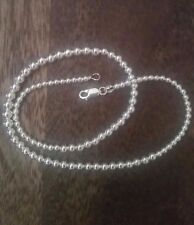 """Ball Chain 16"""" Great Deal! Genuine Solid Sterling Silver Graduated Bead"""