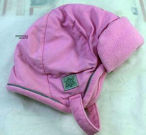 Faded Glory Pink Warm Fleece/Nylon Baby Infant  Hat  NEW