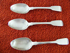 George   IV   3   Hallmarked   1824   Silver  Teaspoons  London   i   Maker  G P