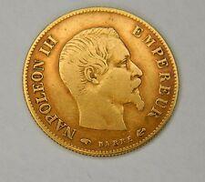 PIECE EN OR NAPOLEON III 10 francs 1859 Barre
