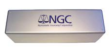 Official NGC Metallic/Blue Print 20 Slab Box  New - 10.2x3.87x6.25 Free Shipping