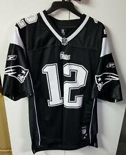 New England Patriots Tom Brady Reebok Unworn Adult Med Jersey Black Sewn RARE