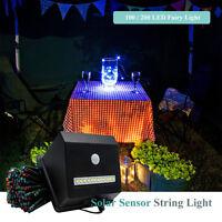100 LED Solar Powered Motion PIR Sensor Fairy String Lights Outdoor Garden IP44