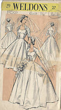 1950s Vintage Sewing Pattern B34 BRIDE'S WEDDING DRESS (1404R)