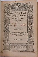 BIBBIA 1550 Francesco Ruiz REGULÆ INTELLIGENDI SCRIPTURAS SACRAS Paris Gaulterot