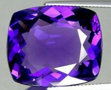 AFRICAN AMETHYST 12 MM CUSHION CUT ALL NATURAL AAA