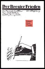Theaterprogramm, Maxim Gorki Theater, Schartow, Der Brester Frieden,  1988