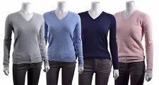 Tommy Hilfiger Womens Classic Cotton Knit V-Neck Soft Lightweight Sweater Shirt