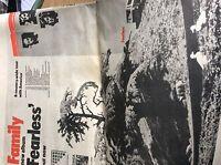 u1-5 ephemera 1971 original folded advert 2 page the family fearless rock group