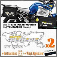 2x Adesivi Bianco Giallo compatibile con Yamaha XT 1200 Super Tenere Z R X