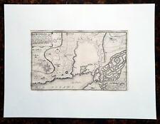 XVIII ème - Dépt 17 - Beau Plan de La Rochelle par N. de Fer 40 x 30 Editée 1705