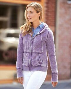 J. America - Women's Zen Fleece Full-Zip Hooded Sweatshirt - 8913