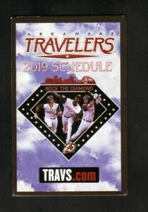 Arkansas Travelers--2019 Pocket Schedule--Mariners Affiliate